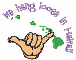We Hang Loose embroidery design