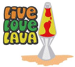 Live Love Lava embroidery design