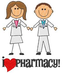 I Love Pharmacy embroidery design