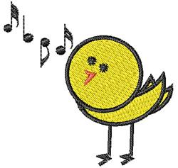 Songbird embroidery design