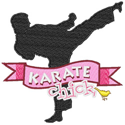 Karate Chick embroidery design