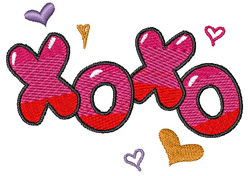 XOXO embroidery design