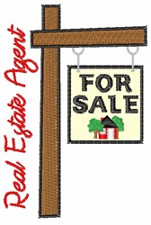 Real Estate Agent embroidery design