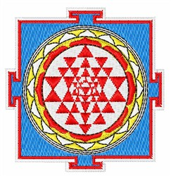 Shree Yantra embroidery design