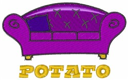 Potato embroidery design