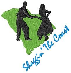 Shaggin The Coast embroidery design