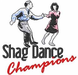 Shag Dance Champions embroidery design