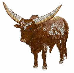 Watusi Cow embroidery design