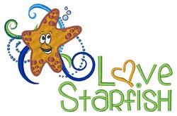 Love Starfish embroidery design