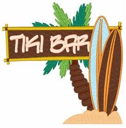 Tiki Bar embroidery design