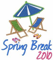 Spring Break 2010 embroidery design