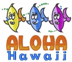 Aloha embroidery design