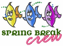 Spring Break Crew embroidery design