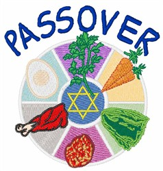 Passover embroidery design