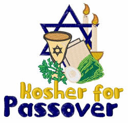 Kosher 4 Passover embroidery design