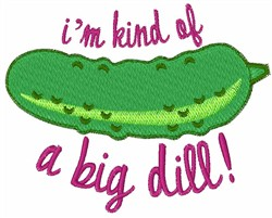 A Big Dill embroidery design