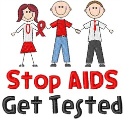 Get Tested embroidery design