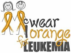 We Wear Orange embroidery design