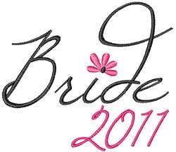Bride 2011 embroidery design