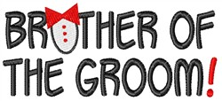 Brother Of The Groom embroidery design