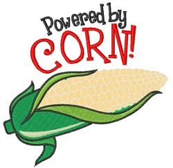 Powered By Corn embroidery design
