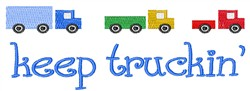 Keep Trucking embroidery design