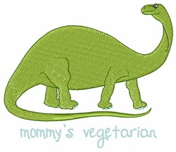 Mommys Vegetarian embroidery design