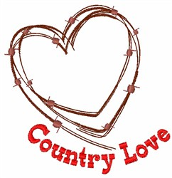 Country Love embroidery design