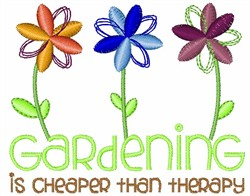 Gardening embroidery design