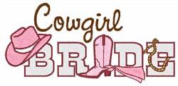 Cowgirl Bride embroidery design