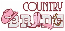 Country Bride embroidery design