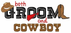 Groom And Cowboy embroidery design