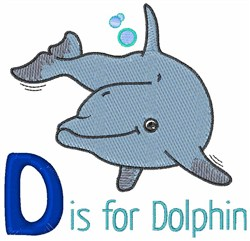 D Is For Dolphin embroidery design