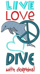 Dive With Dolphins embroidery design