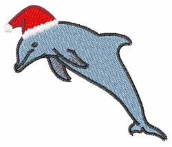 Santa Dolphin embroidery design
