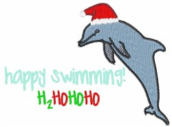 Happy Swimming embroidery design