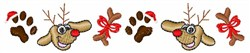 Doggie Christmas Border embroidery design