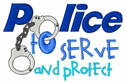 Serve And Protect embroidery design