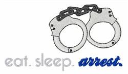 Arrest embroidery design
