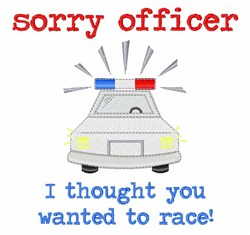 Sorry Officer embroidery design