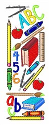 School Days embroidery design