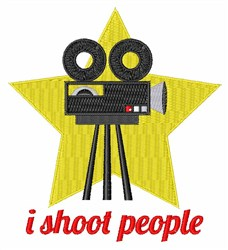 I Shoot People embroidery design