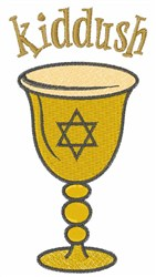 Kiddush embroidery design