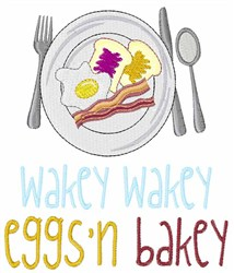 Wakey Wakey embroidery design
