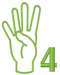 Sign Language  4 embroidery design