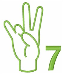 Sign Language 7 embroidery design