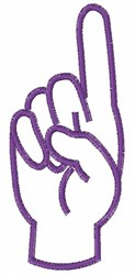 Sign Language D embroidery design
