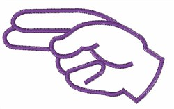 Sign Language H embroidery design