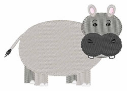 Hippopotamus embroidery design