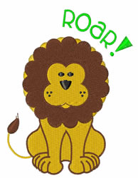 Roar embroidery design